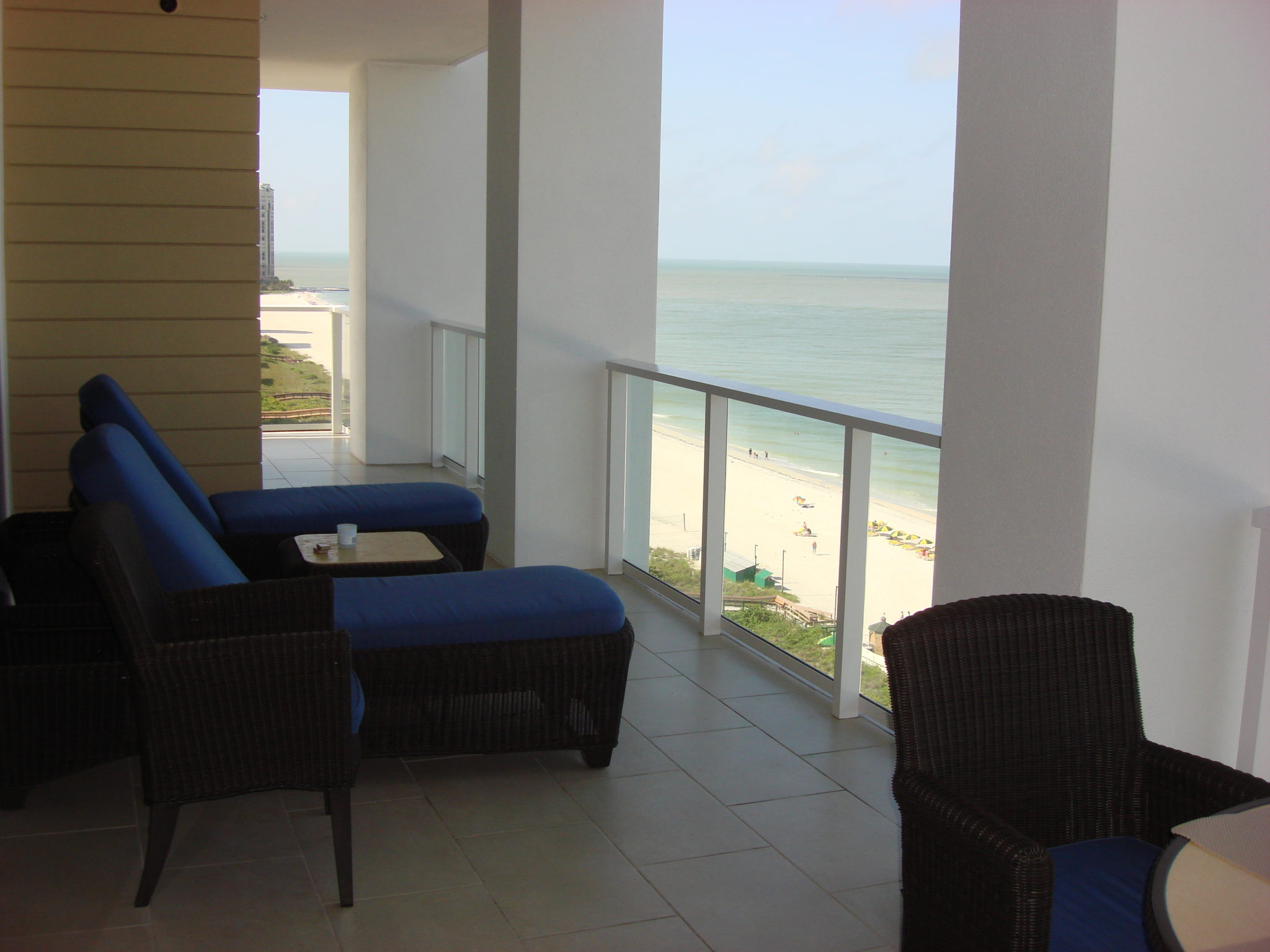 Beachfront Apartment - view from Balcony